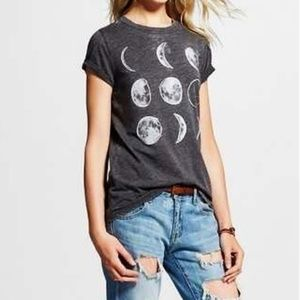 LOL Vintage Phases of the Moon Graphic Top Small
